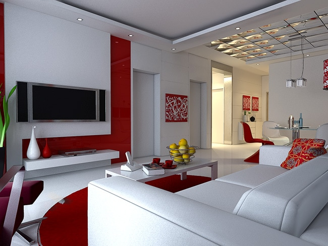 Flora brothers painting 5 colors how they affect your mood for Modern living room red