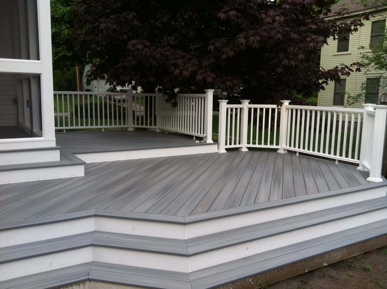 Flora brothers how to clean and care for your composite deck for Composite deck railing