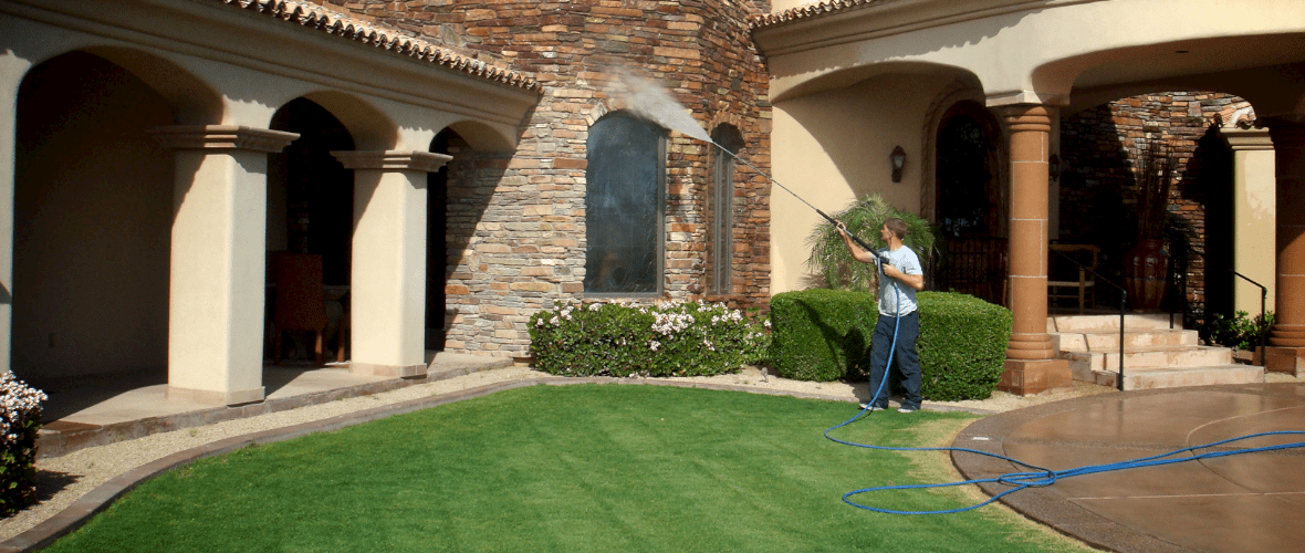 how to properly power wash your home before painting